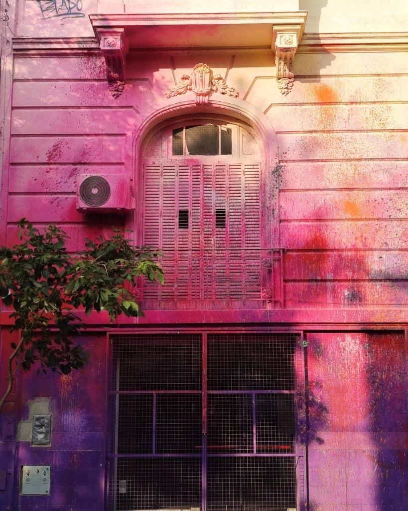 Palermo soho różowy budynek