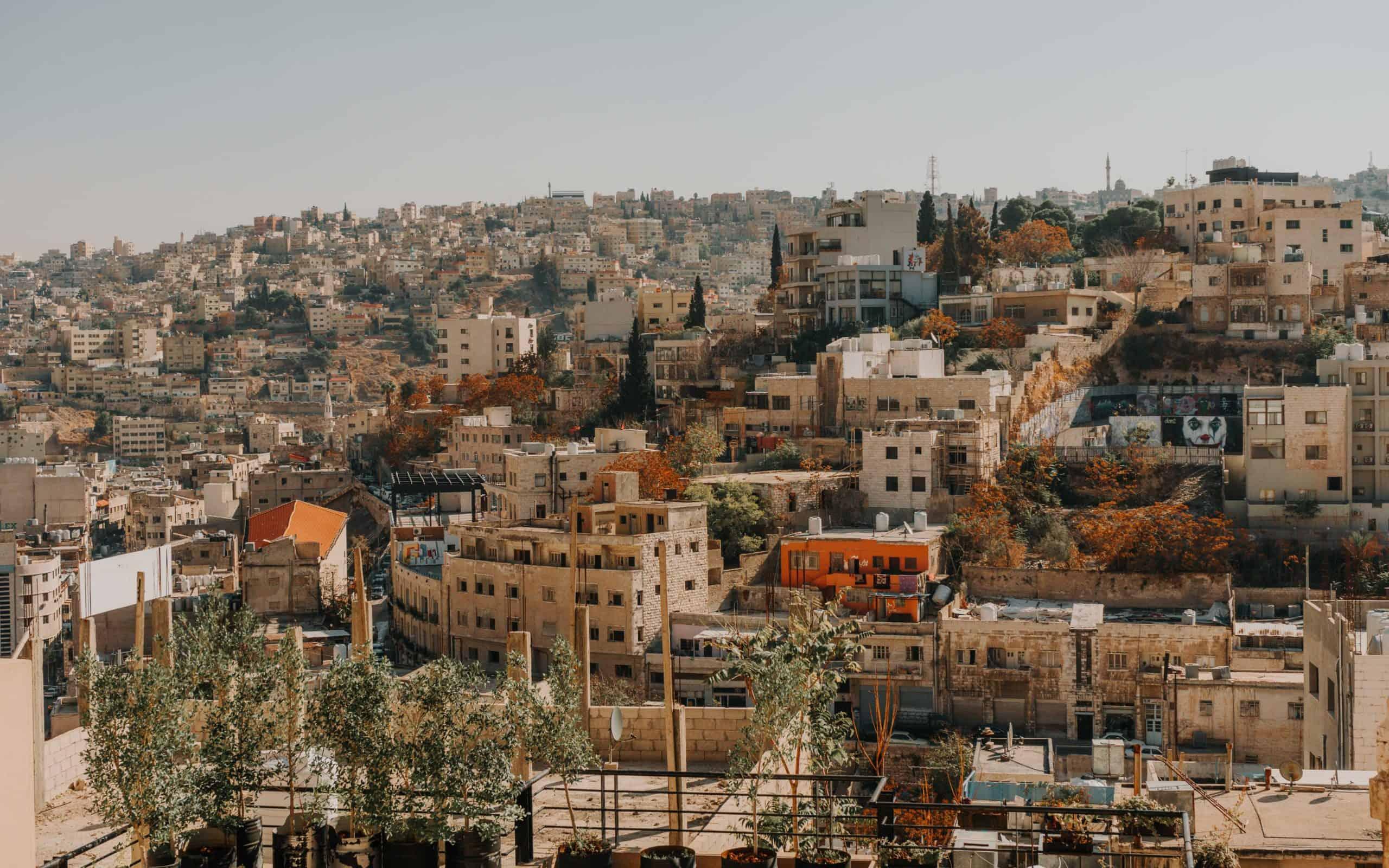 amman widok na miasto jordania przewodnik