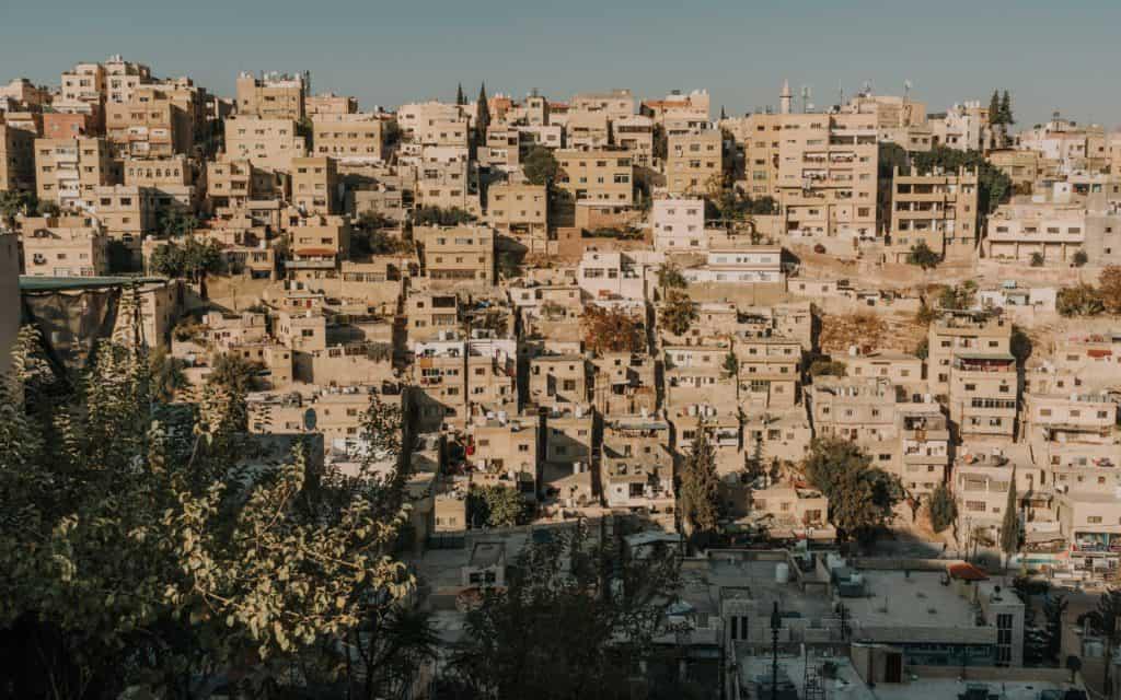amman widok jordania transportem publicznym Bliski wschód