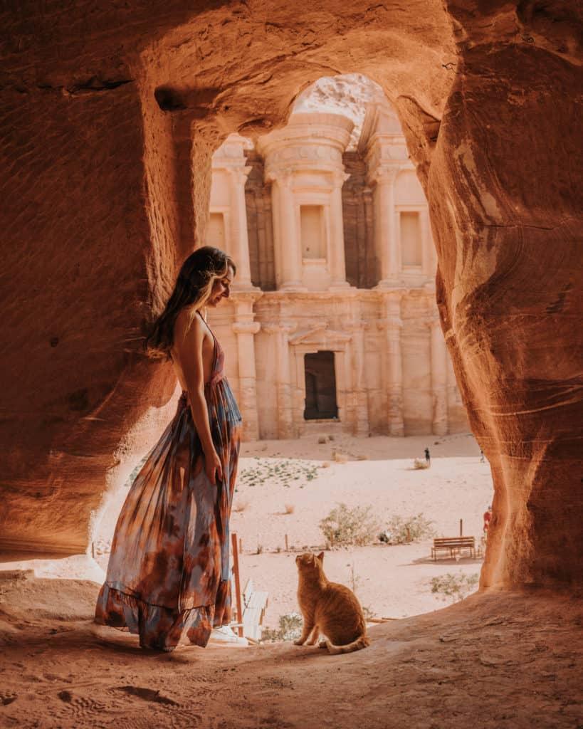 cave Petra monastery