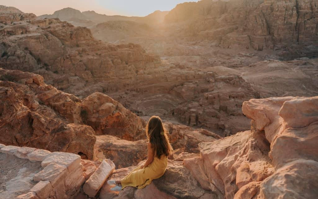zachód słońca Petra Jordania jordan pass
