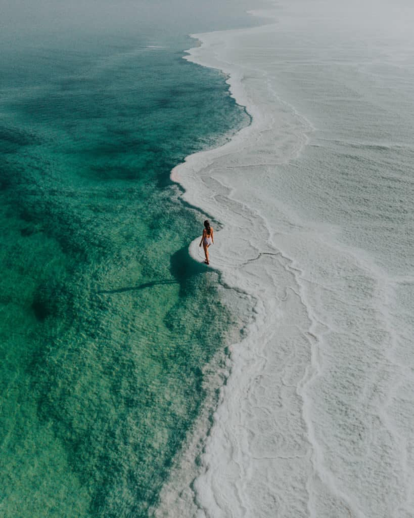 Salty beach ein bokek neve zohar Israel guide