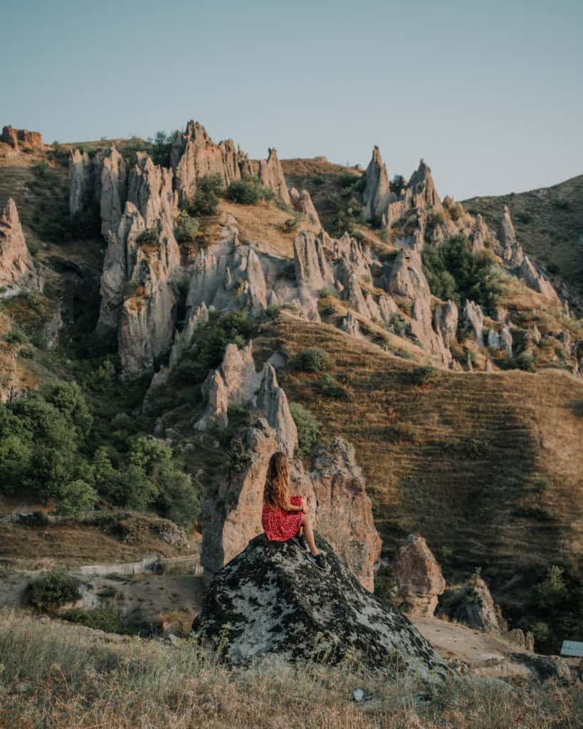 sunset in Goris a cool spot in Armenia