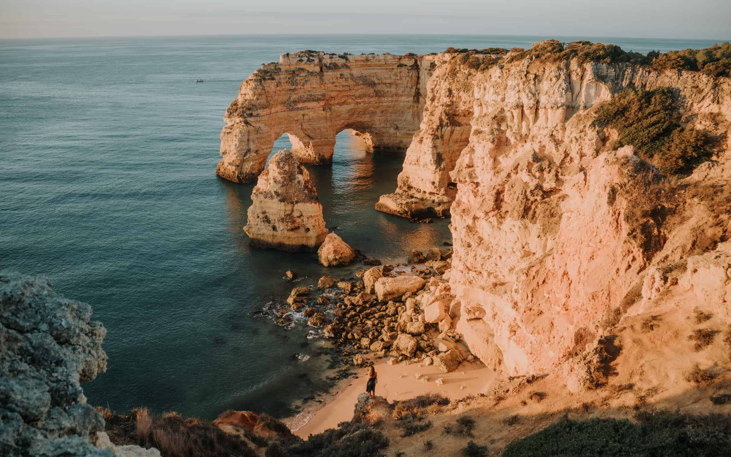 Best Off-Season Destinations. sunrise in Algarve Portugal