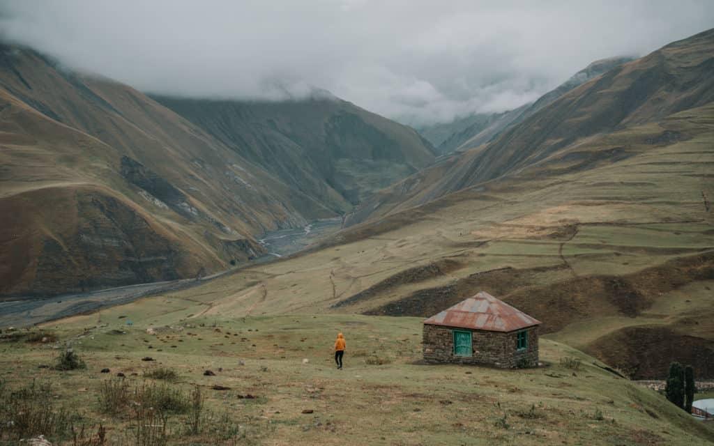 Xinaliq beautiful mountain village in Azerbaijan