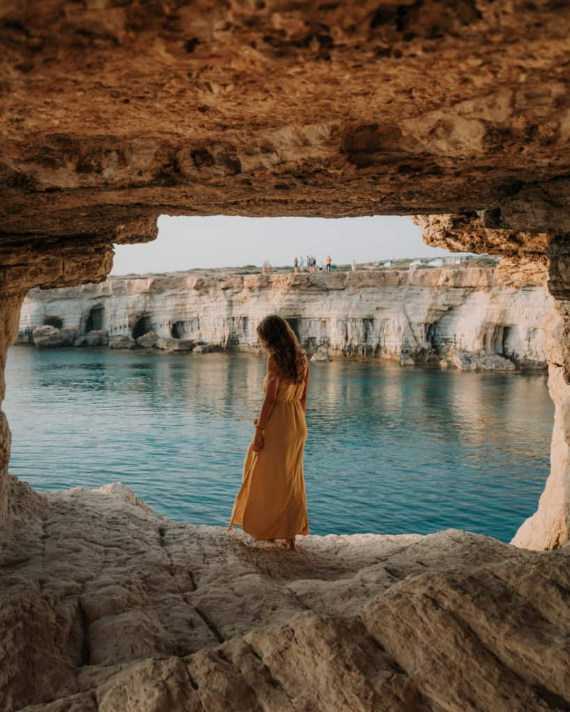 Sea Caves Ayia Napa cool sunset spot on Cyprus