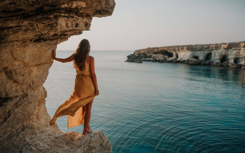 Sea Caves Ayia Napa sunset spot in Cyprus