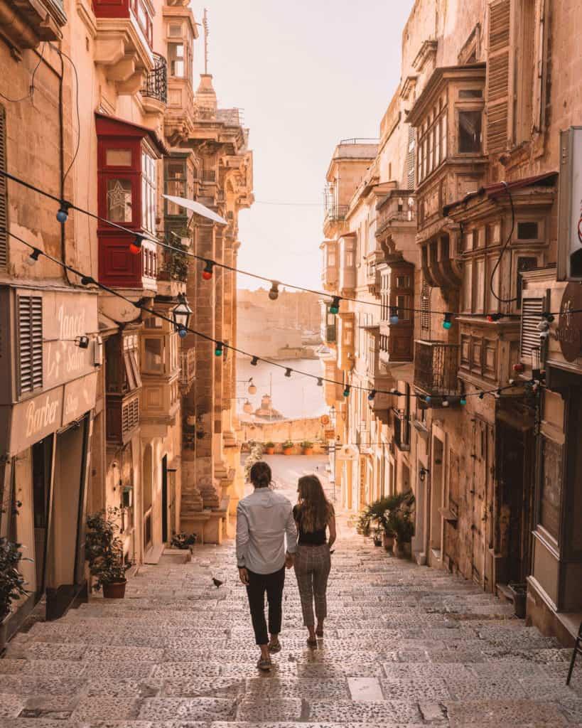 early morning walks in Valletta Malta