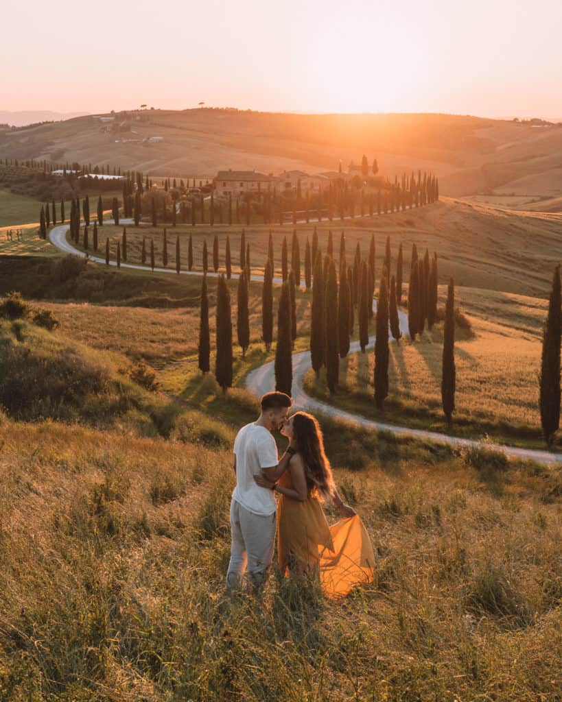 Agroturismo Baccoleno Tuscany Italy perfect sunset spot