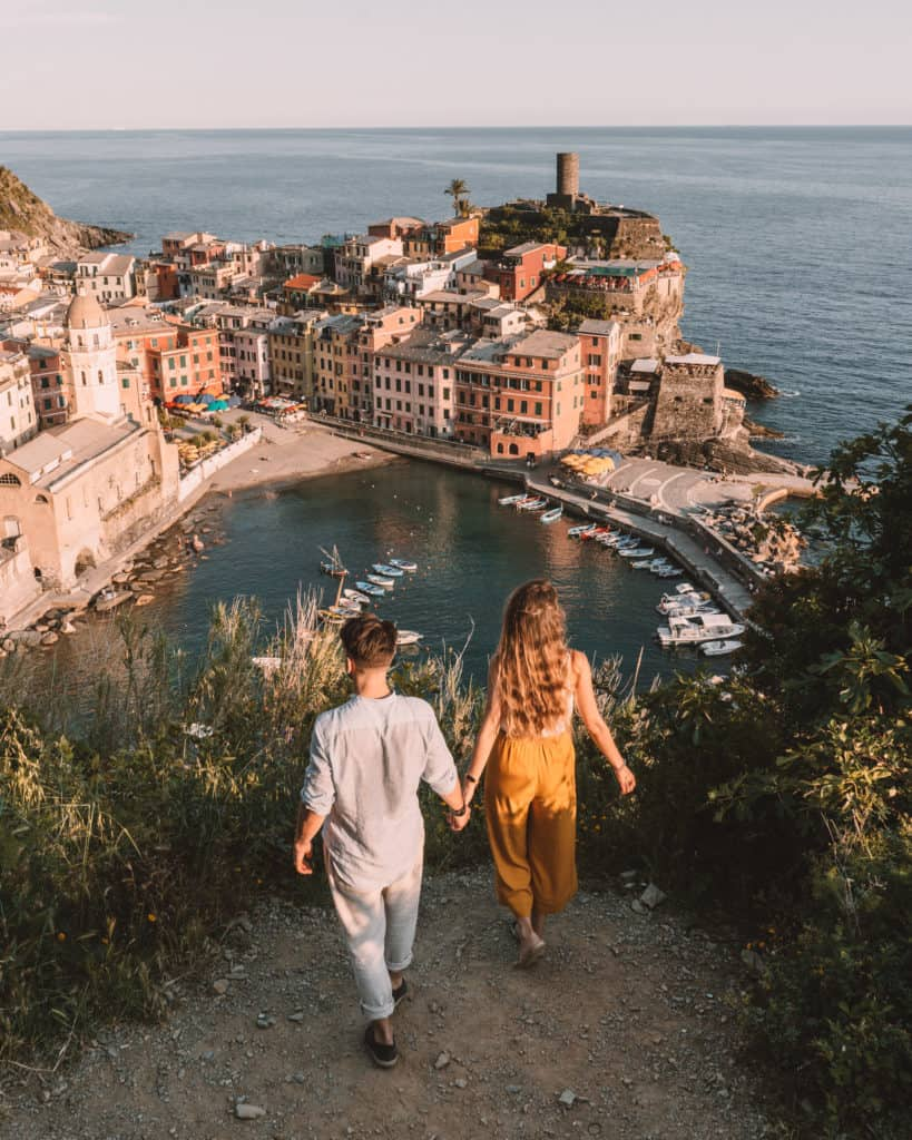 sunset over Vernazza Cinque terre Italy