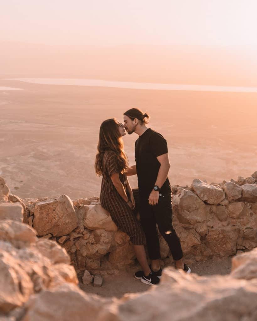 Sunrise seen from Masada Israel