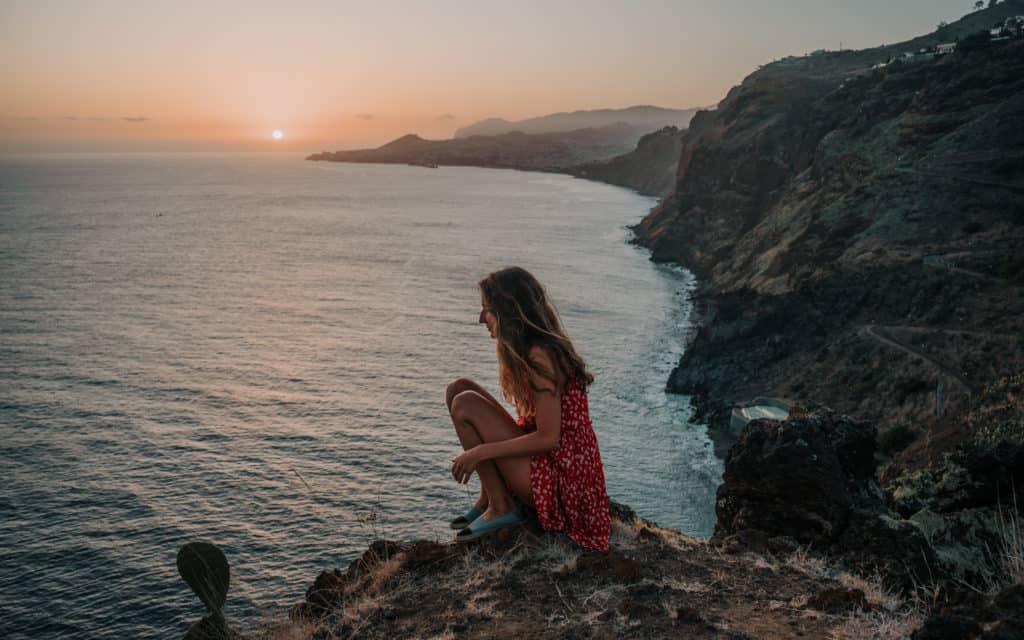 sunset on Madeira cristo rei