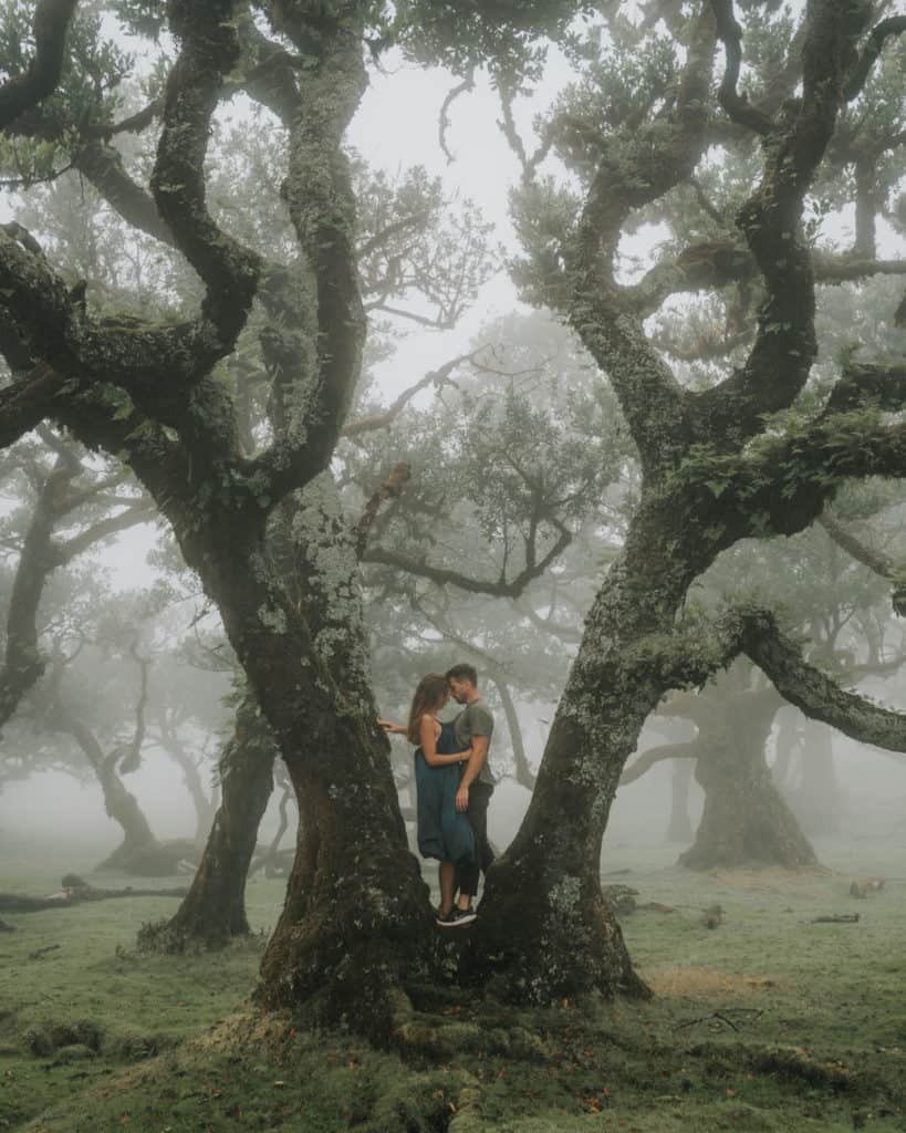 couple in moody fanal madeira best photospots