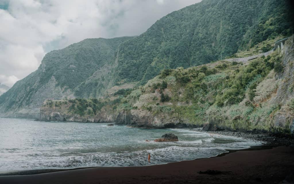 black beach seixal madeira