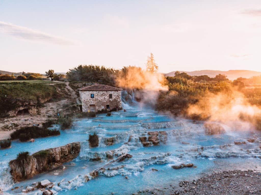 terme di saturnia best sunrise in Tuscany