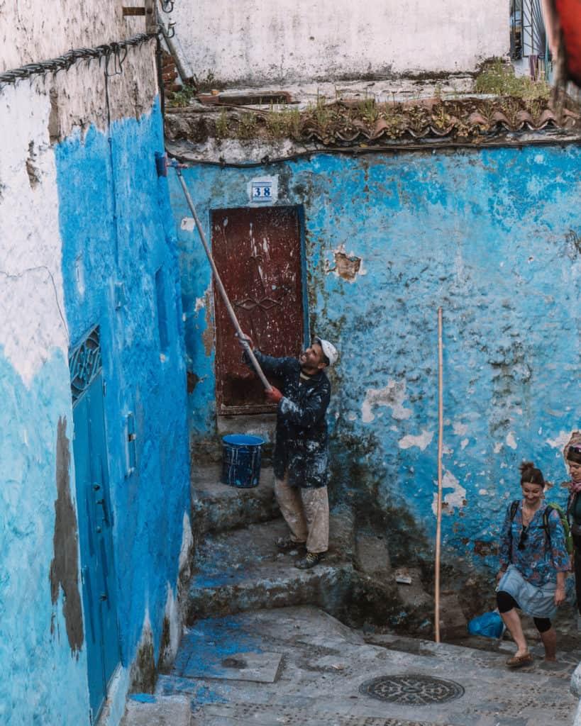 szafszawan maroko niebieskie miasto