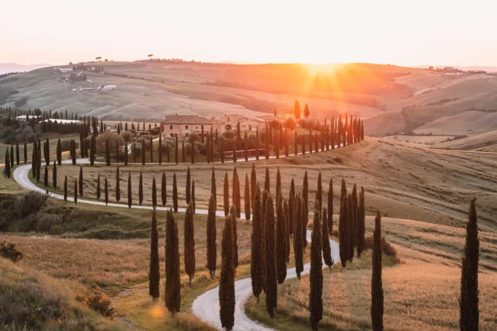 agroturismo baccoleno best sunset spot in Tuscany