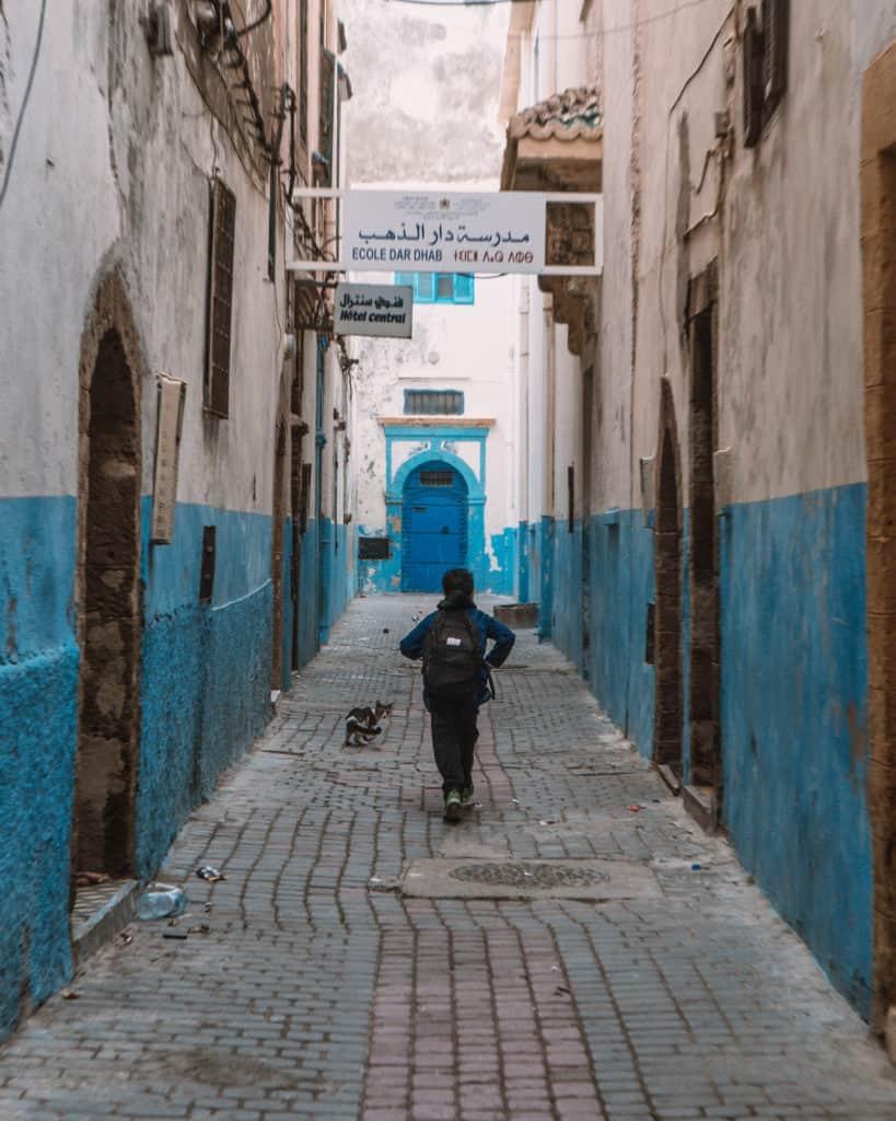 essaouira uliczka maroko co zobaczyć
