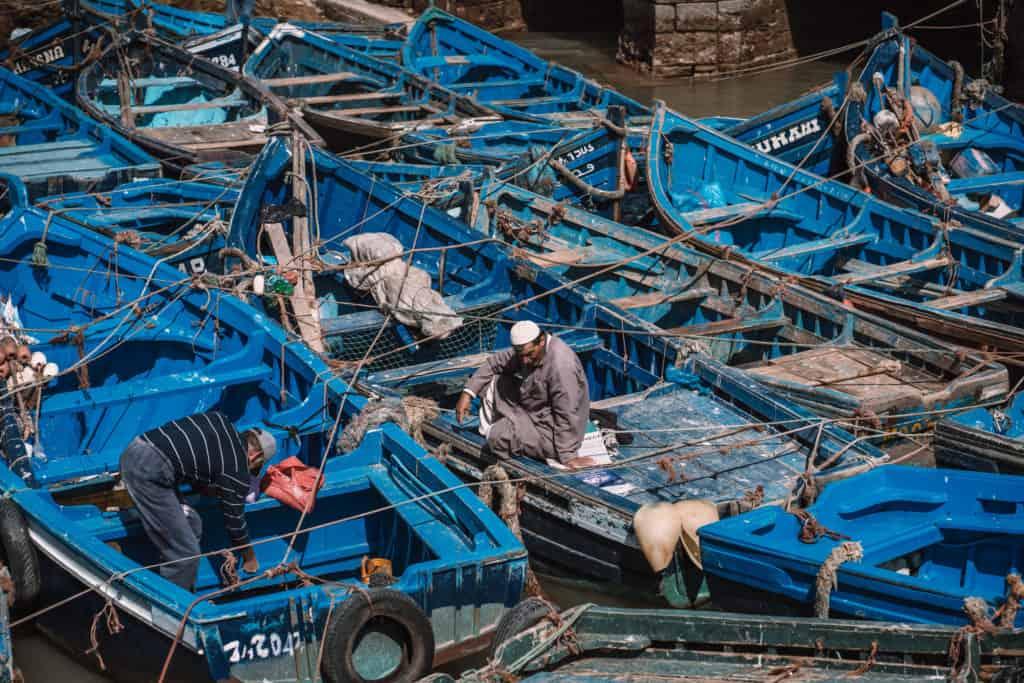 rybacy w porcie Essaouira Maroko co zobaczyć