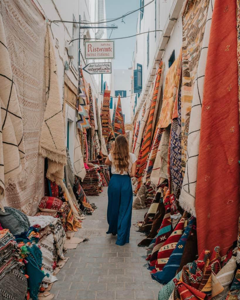 uliczka Essaouira Maroko przewodnik
