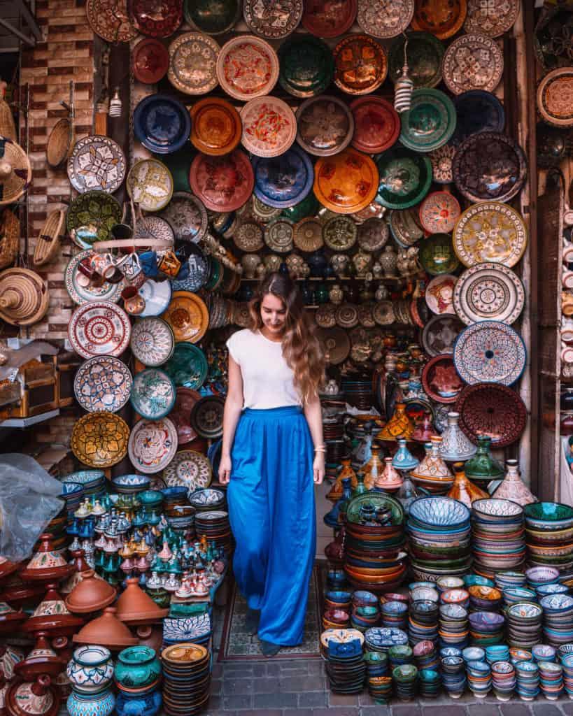 sklep z ceramiką maroko marrakesz medina przewodnik