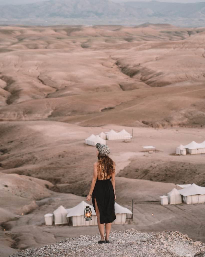 zachód słońca agafay pustynia maroko