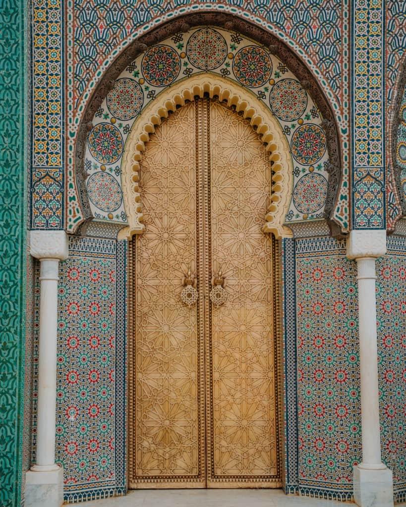 fez royal palace maroko najładniejsze drzwi w Fez