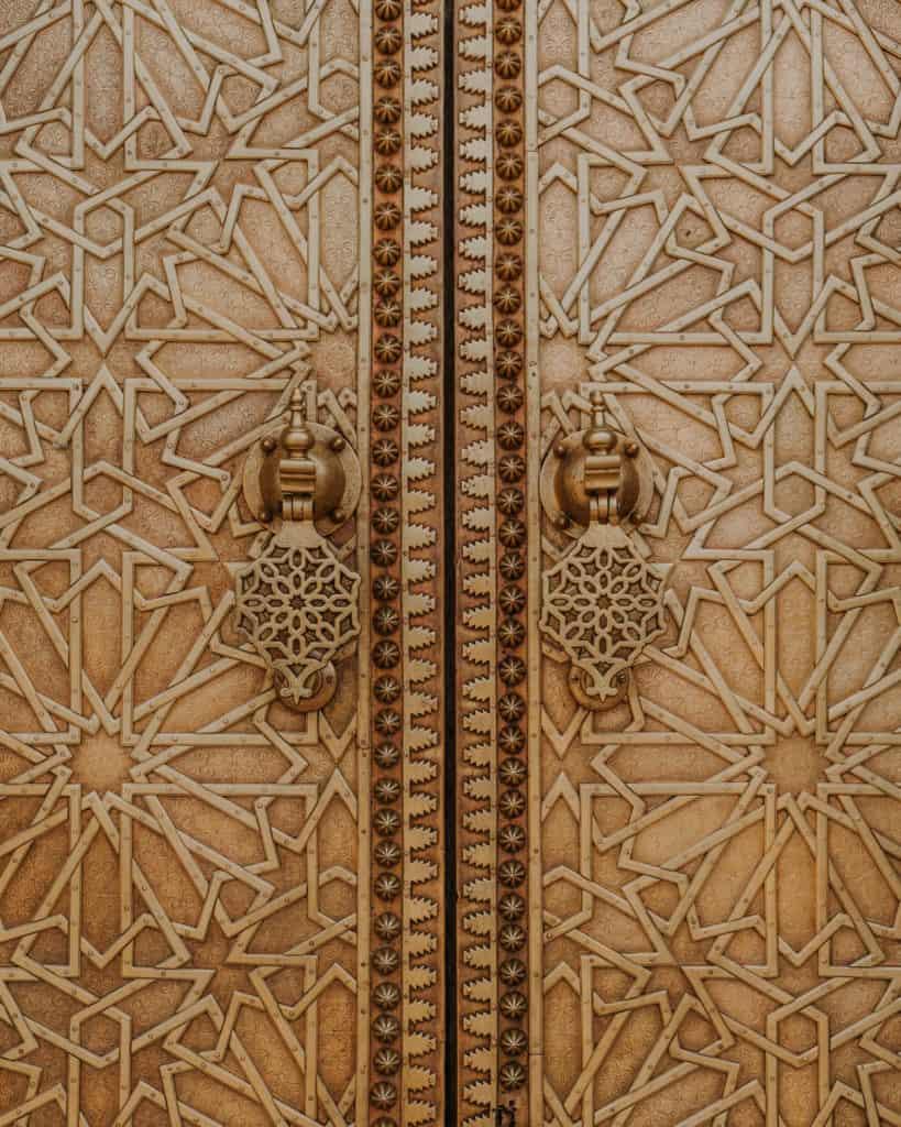 złote drzwi fez maroko
