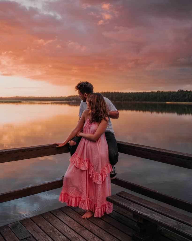 zachód słońca jezioro tabórz mazury co zobaczyć