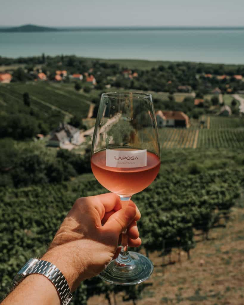 glass of wine laposa winery balaton guide