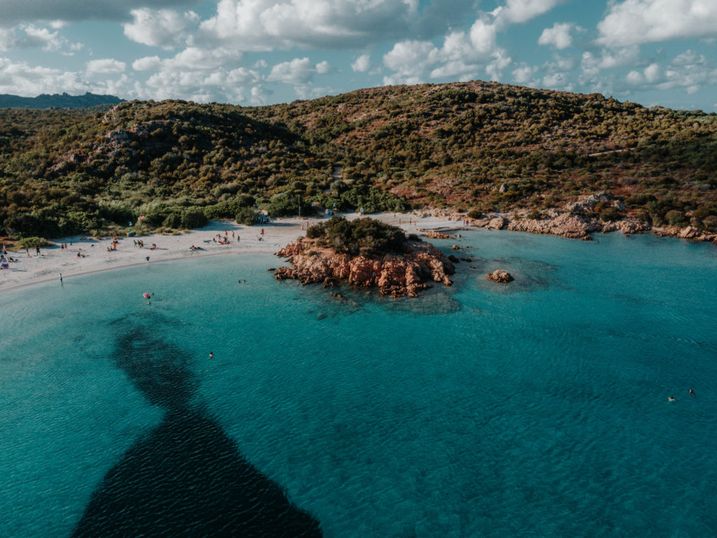 spiaggia del principe sardynia dron