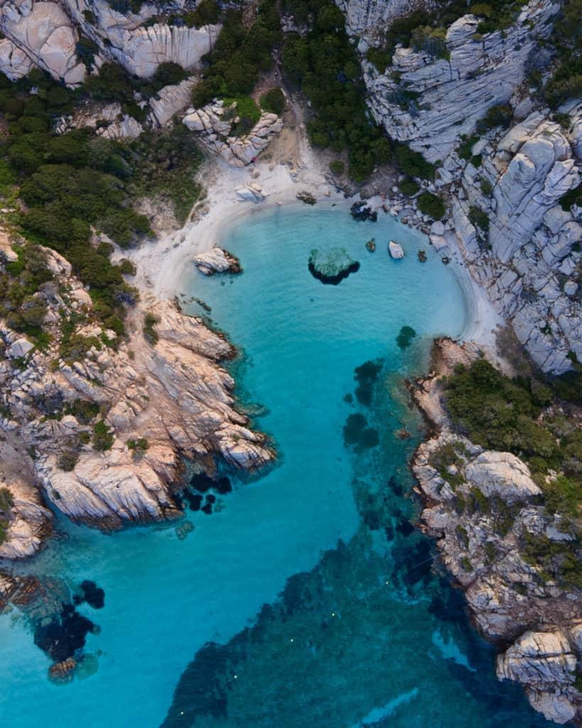 cala napoletana drone sardinia best beaches