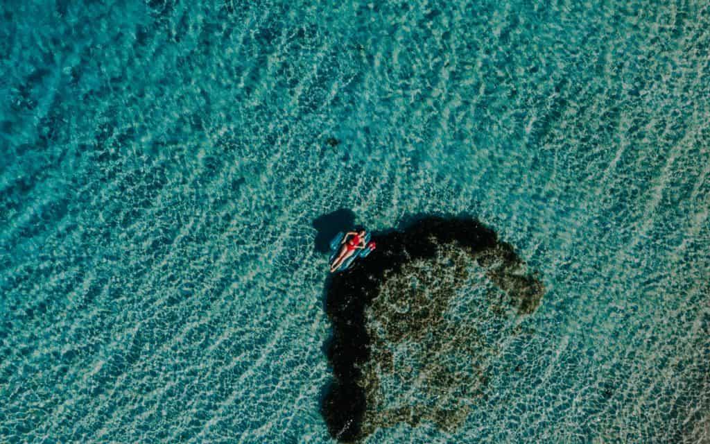 sardinia clear water drone