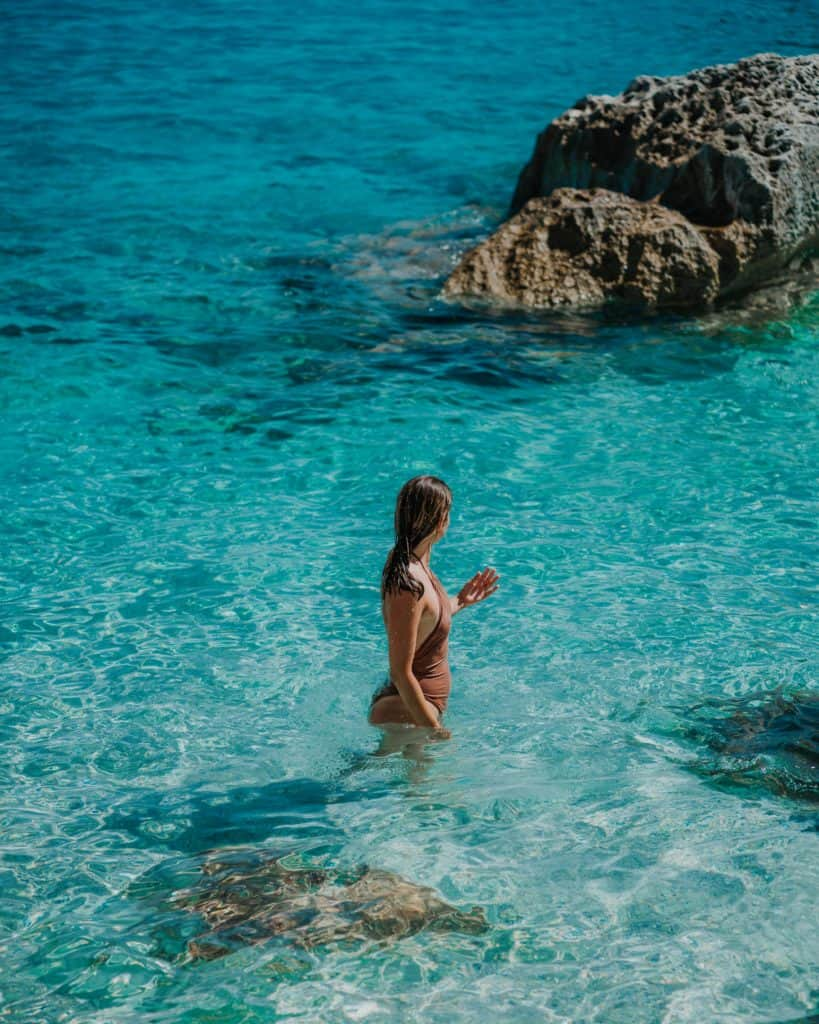 clearest water on sardinia cala goloritze
