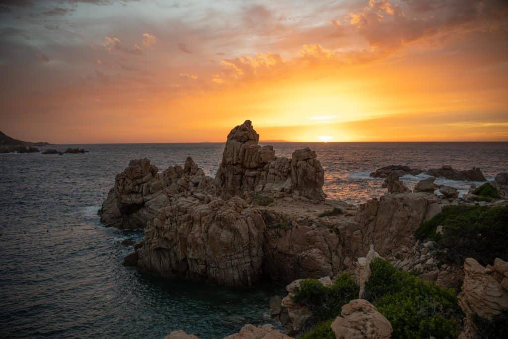 sunset sardinia spiaggia li cossi costa paradiso
