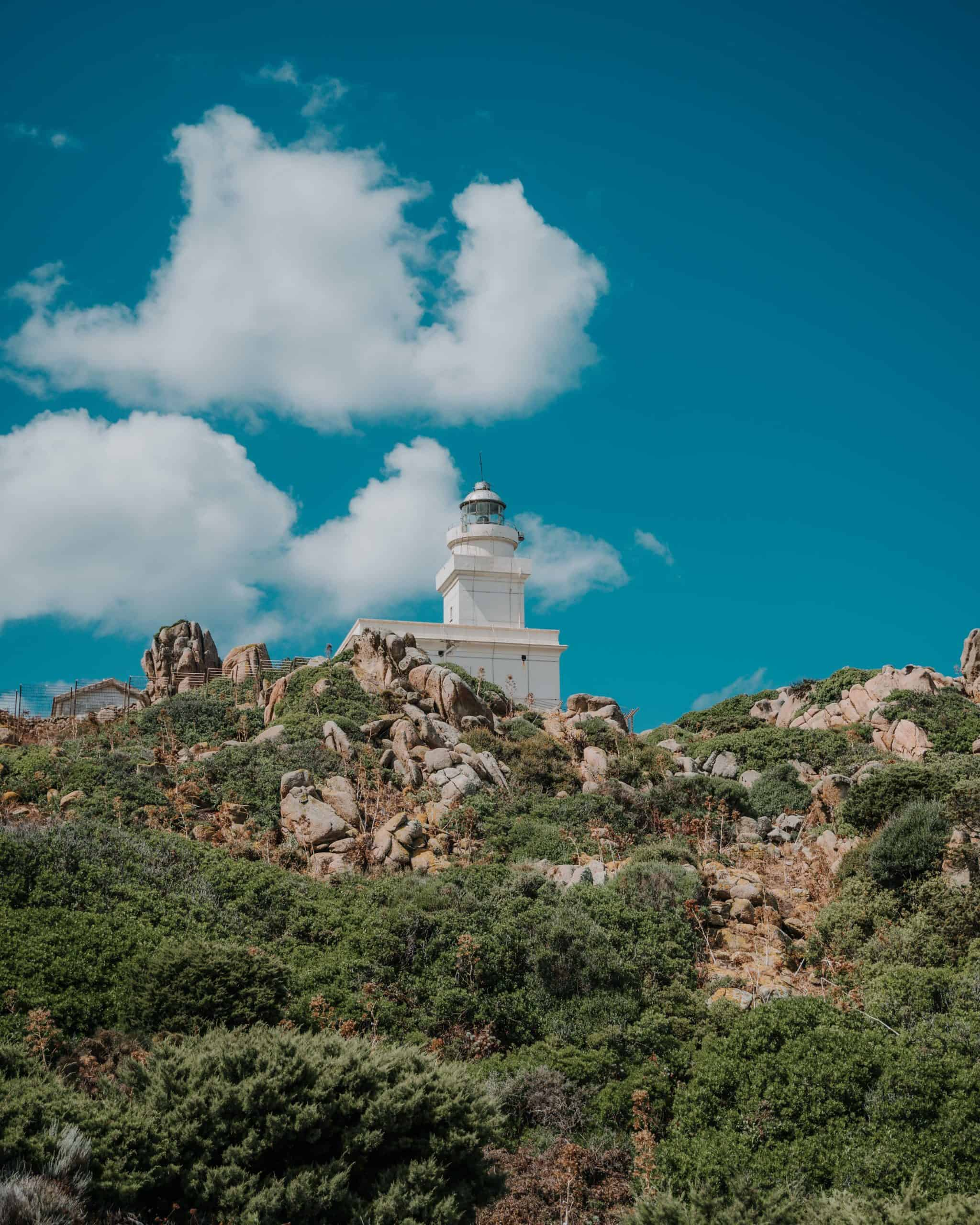 capo testa lighthouse sardinia