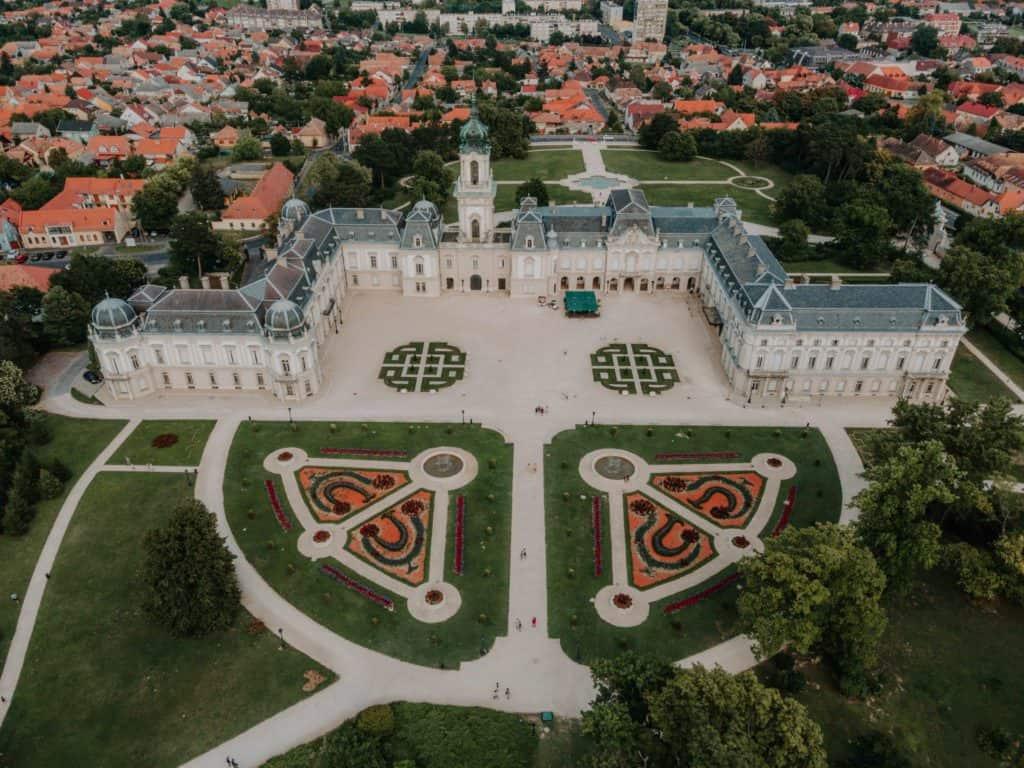 Festetics Palace drone Keszthely Balaton what to do