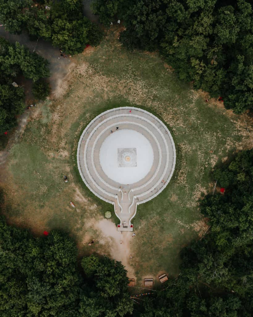 Zalaszántó stupa drone balaton what to see