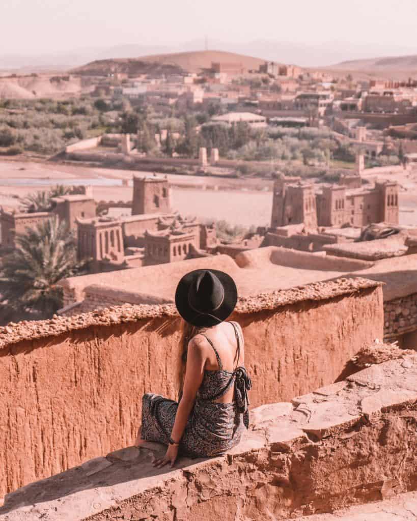 widok z ait ben haddou ouarzazate co zobaczyć Afryka