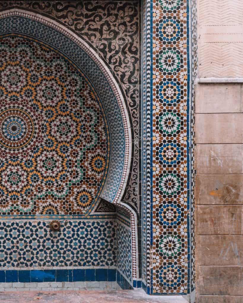 wodopój fez medina maroko
