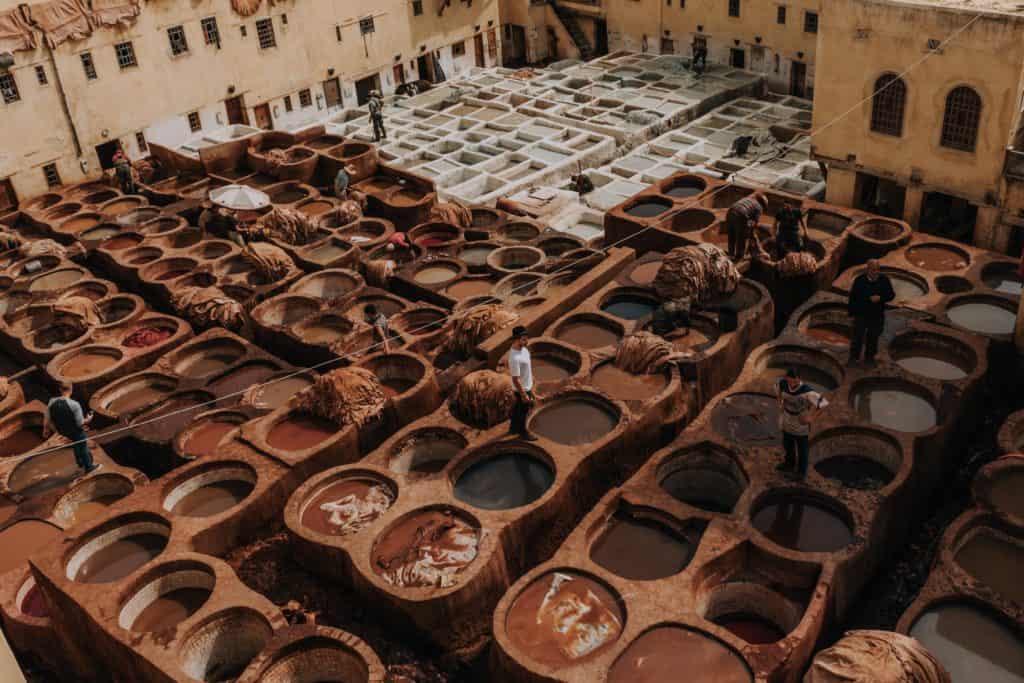chouara tanneries fez co zobaczyć garbarnia Afryka