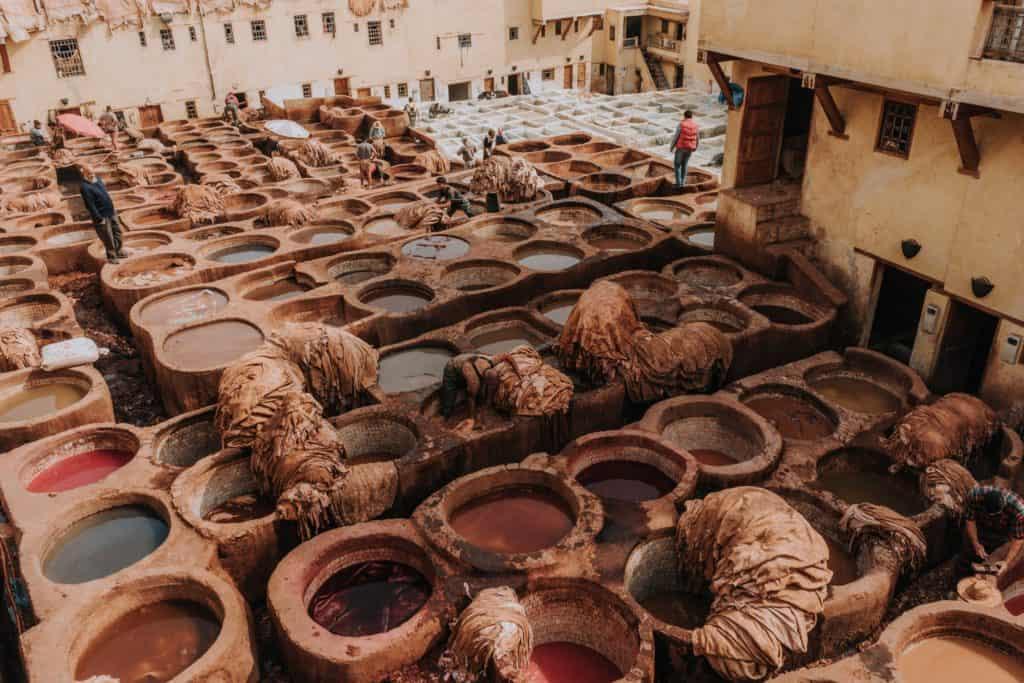 chouara tanneries medina fez