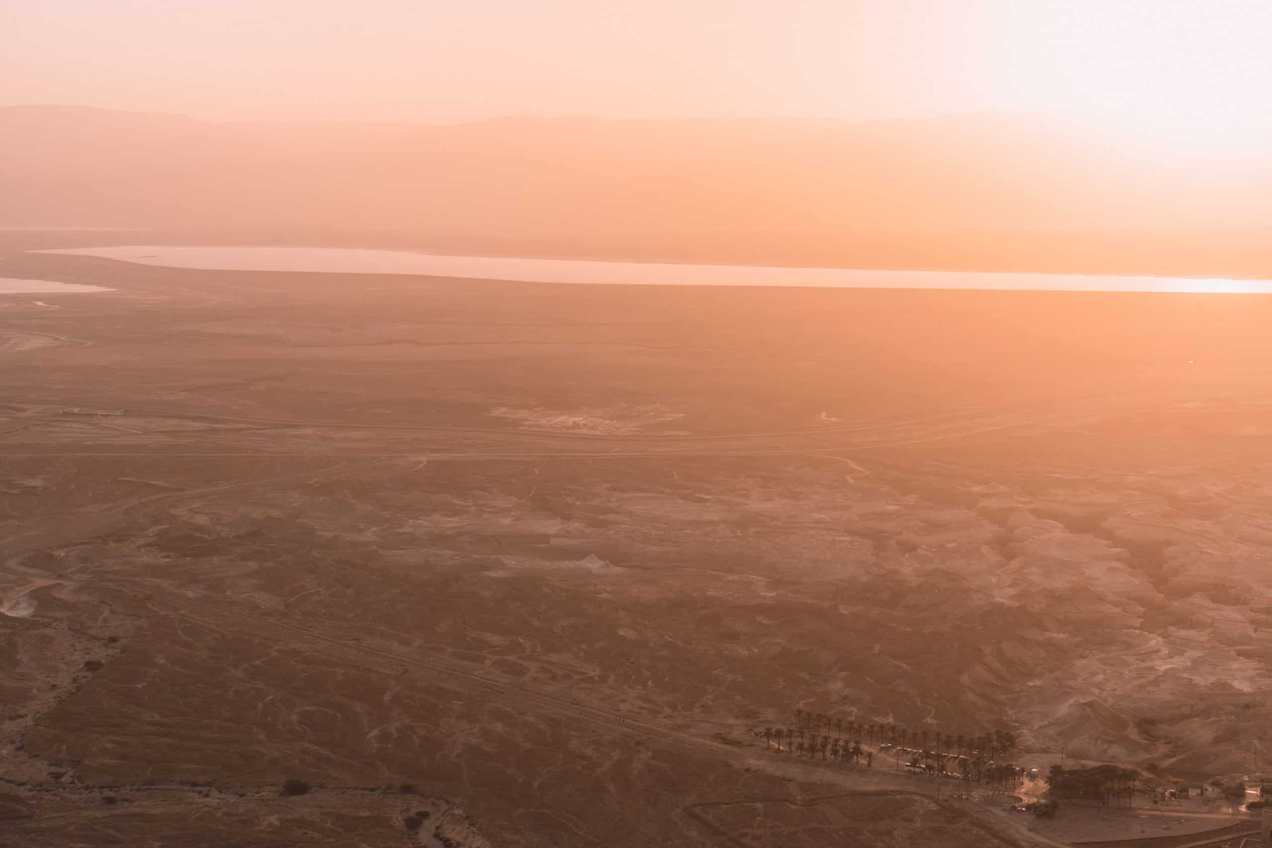 wschód słońca masada izrael