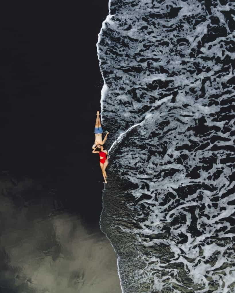 dji mavic air 2 seixal czarna plaża sprzęt do fotografii podróżniczej