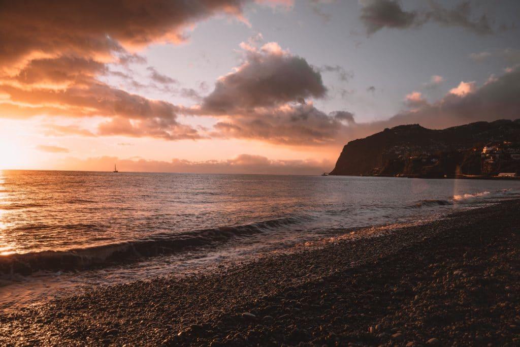 madera zachód słońca praia formosa