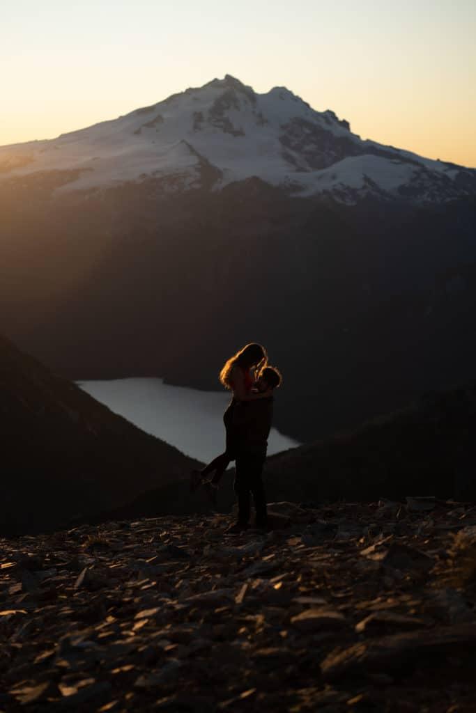 bariloche zachód słońca zdjęcie przed obróbką
