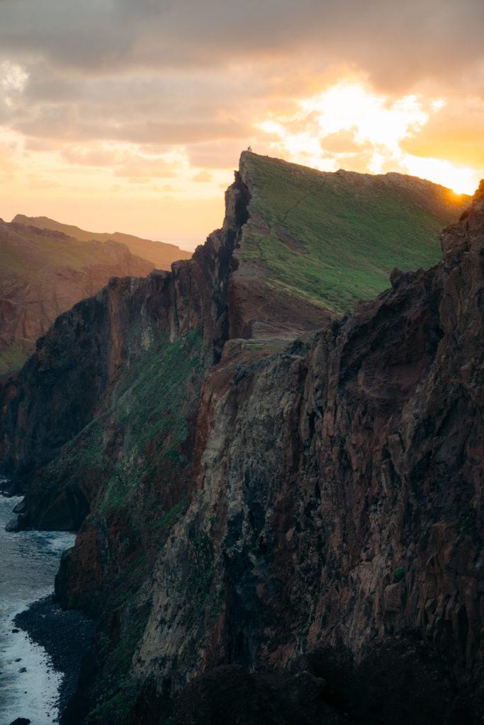 ponta do rosto Madera wschód słońca