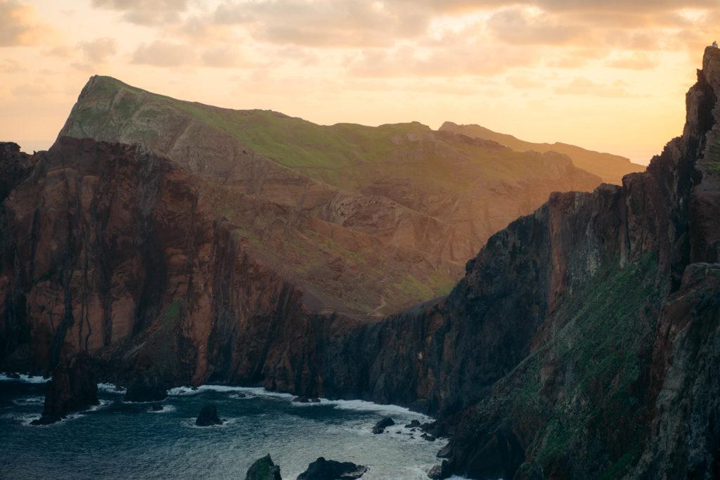 ponta do rosto wschód słońca na maderze