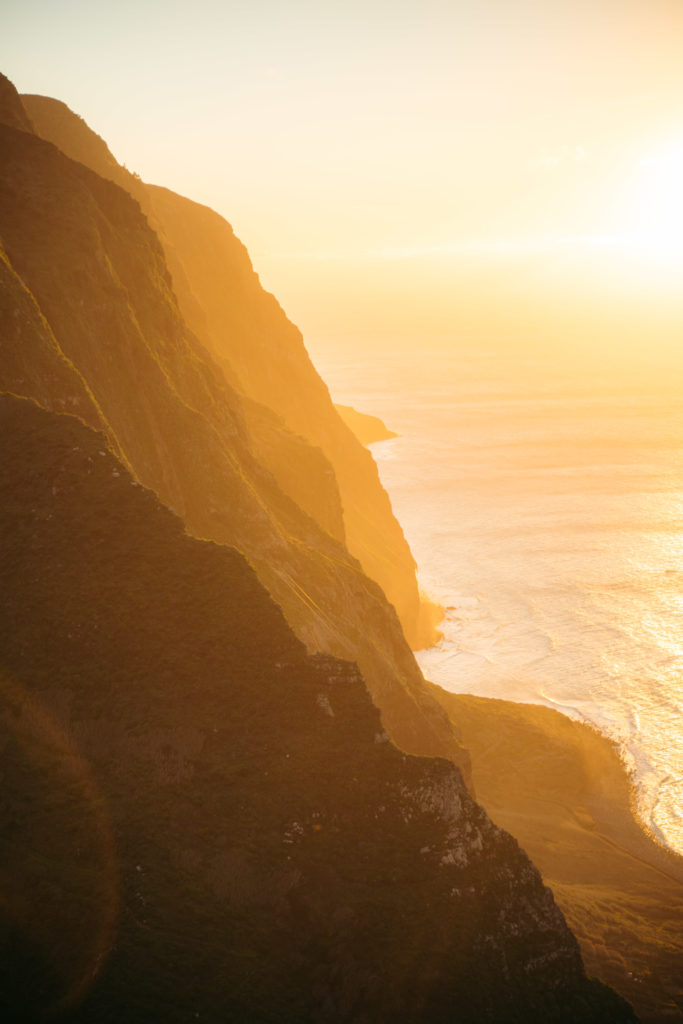 ponta da ladeira madera zachód słońca punkt widokowy