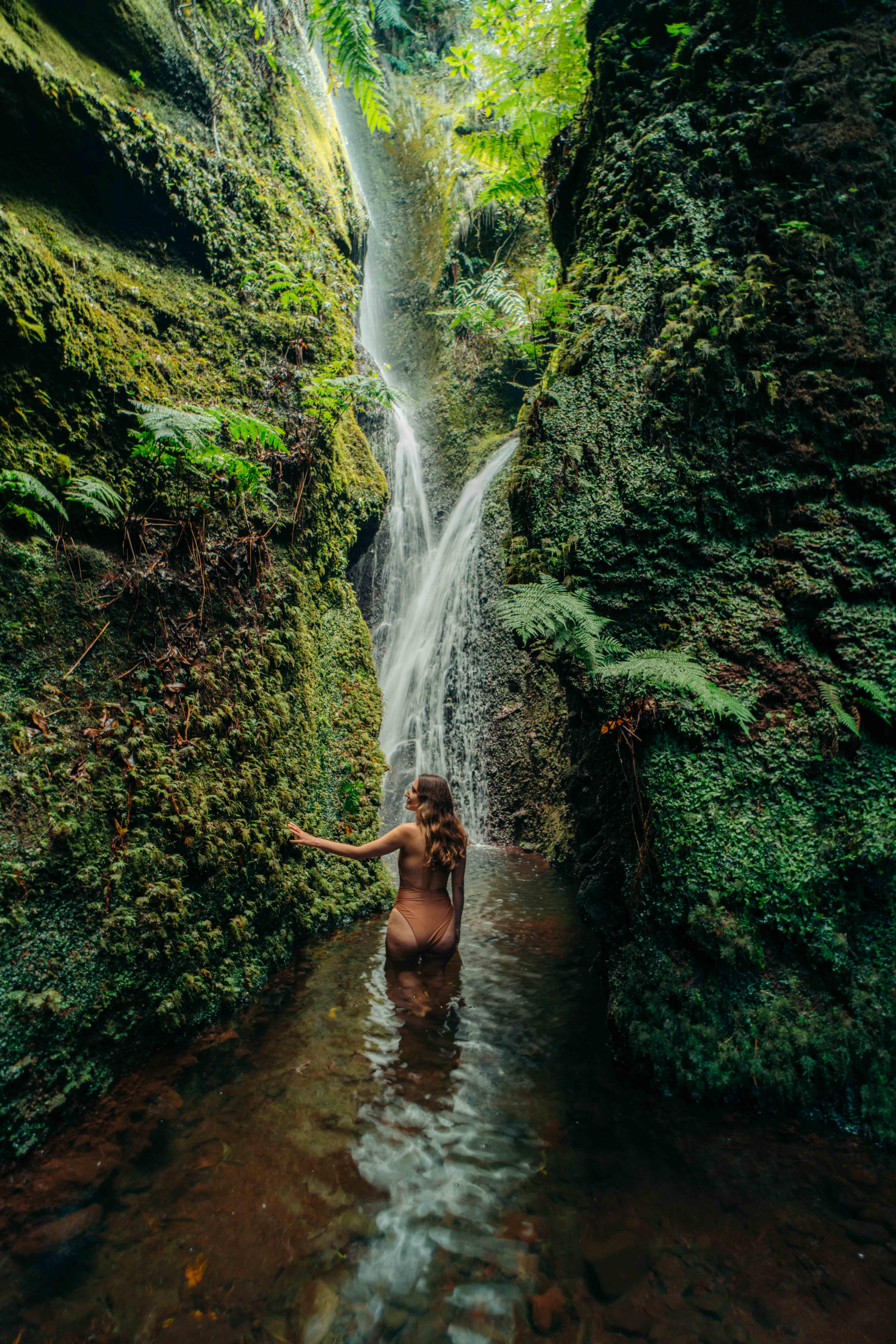 ukryty wodospad na Maderze atrakcje na Maderze Madera water's kiss